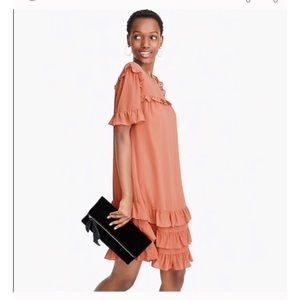 ❤️ J.Crew peach colour Ruffle dress